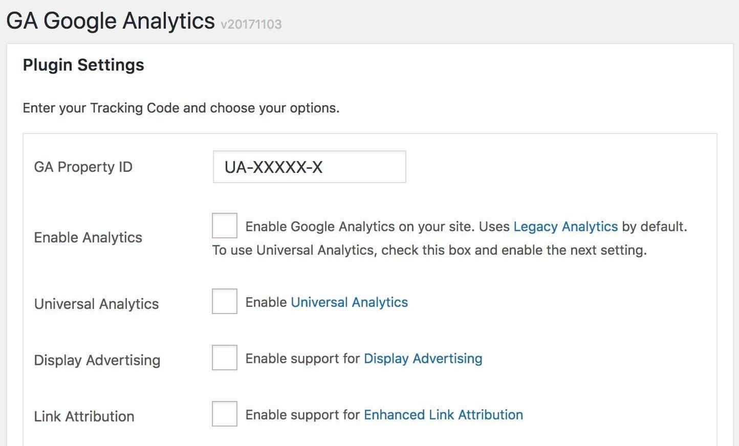 הוספת אנליטיקס באמצעות התוסף GA Google Analytics