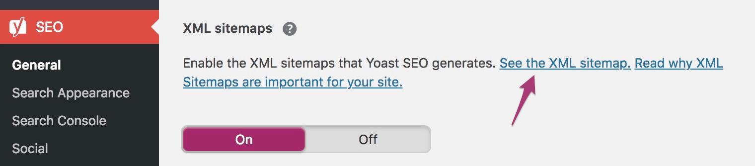 בדיקת כתובת ה XML Sitemap ב Yoast SEO