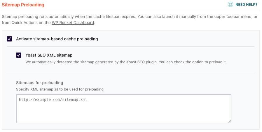 Sitemap Preloading