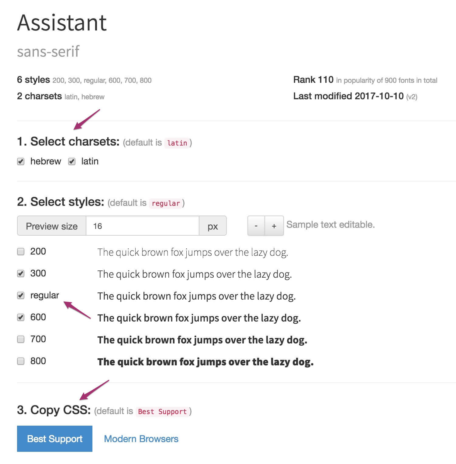 WebFonts Helper - טעינת פונטית של גוגל לוקאלית
