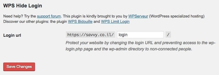 WHS Hide Login Settings