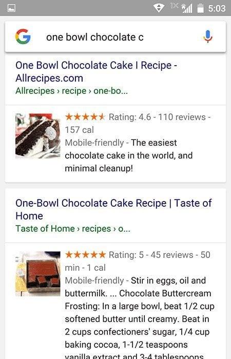 Recipe Schema Example