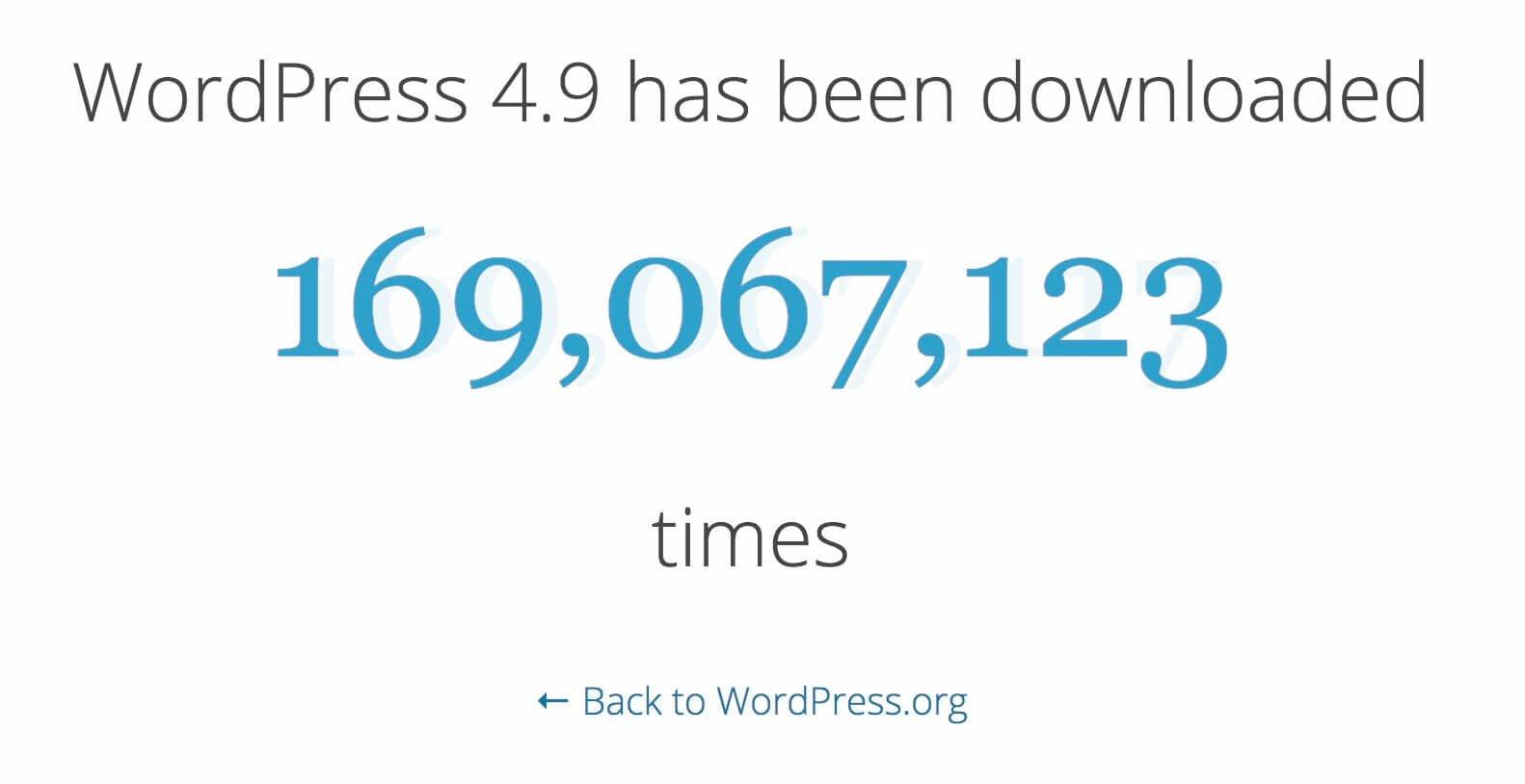 כמות ההרודות של גירסת 4.9 של וורדפרס