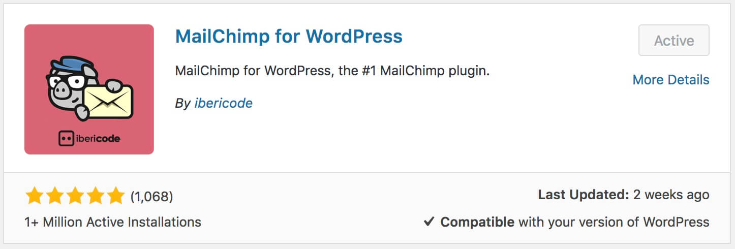 התקנת התוסף Mailchimp for Wordpres