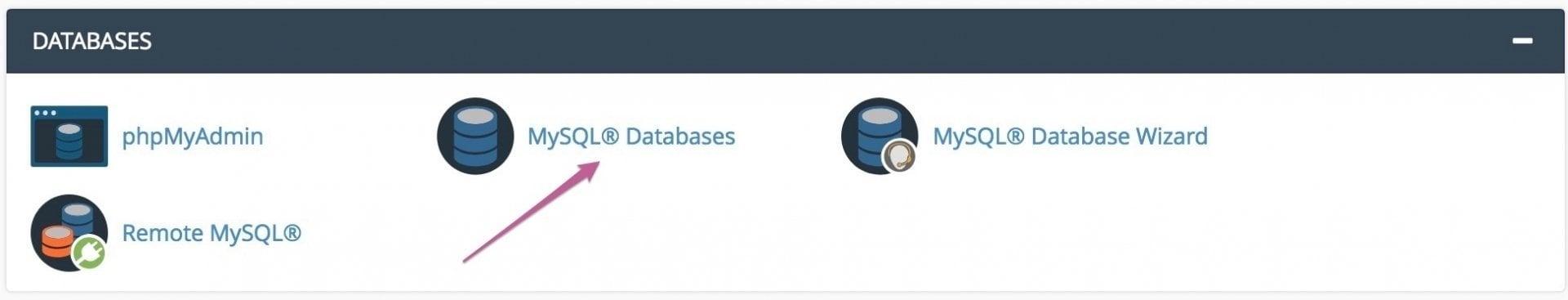 MySQL® Databases cPanel