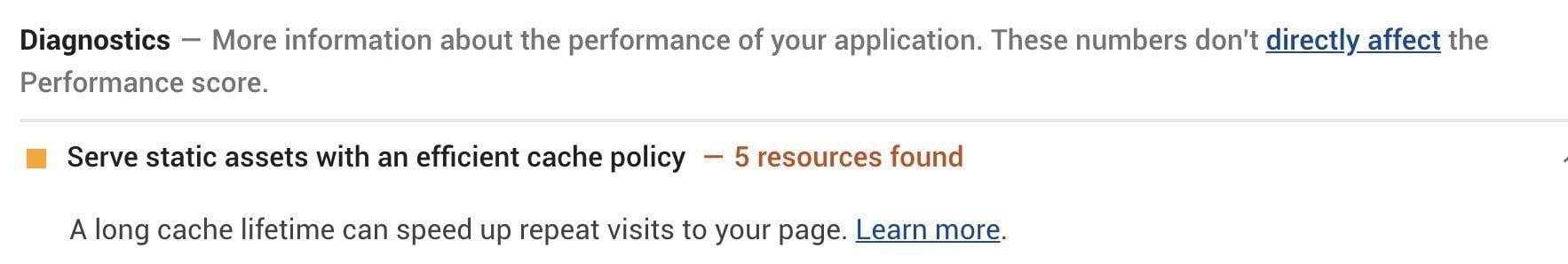 המלצת Lighthouse לגבי Leverage Browser Caching של analytics.js