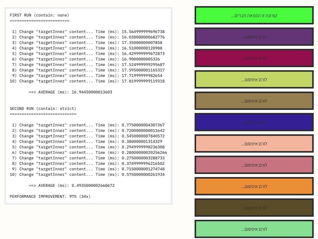 שיפור ביצועי rendering בעזרת CSS Containment